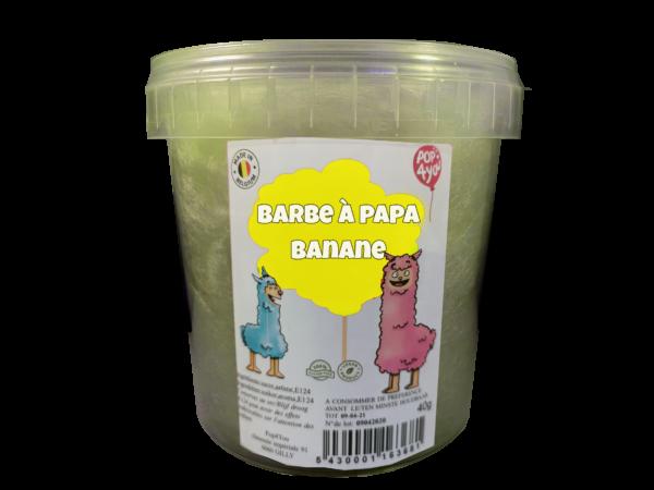 barbe à papa banane